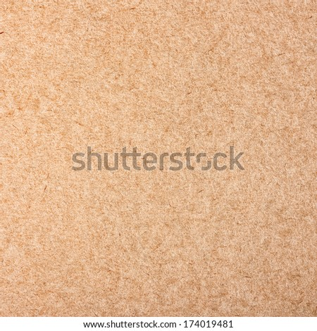 Closeup brown cardboard texture background - stock photo