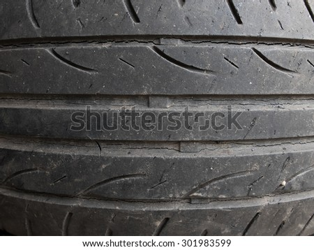 Closeup car tire texture background - stock photo