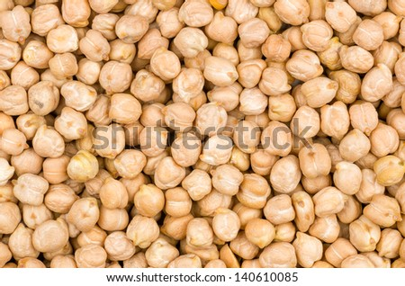 Closeup chickpeas texture - stock photo