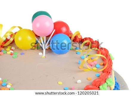 Closeup child birthday cake - stock photo