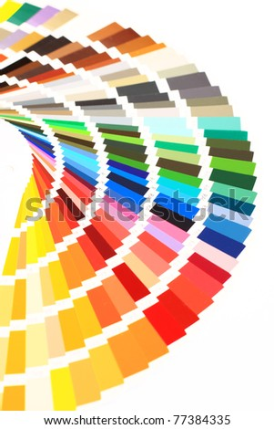 closeup color guide - stock photo