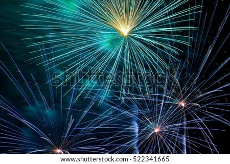 Closeup colorful fire work background