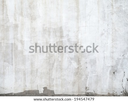 Closeup concrete wall texture with plaster and white paint - stock photo