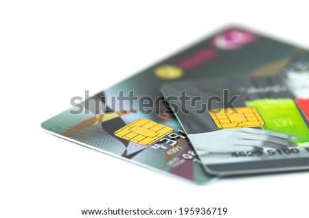 Closeup Credit card - stock photo