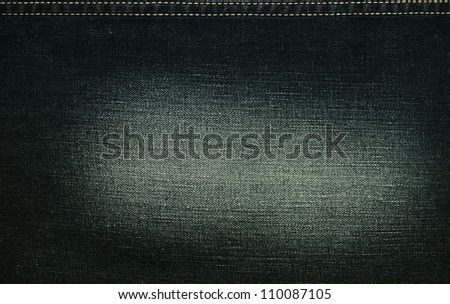 Closeup denim jeans texture with copy-paste space - stock photo