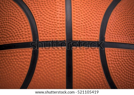 Closeup detail of basketball ball texture