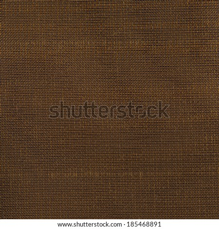 Closeup detail of brown fabric texture background. - stock photo