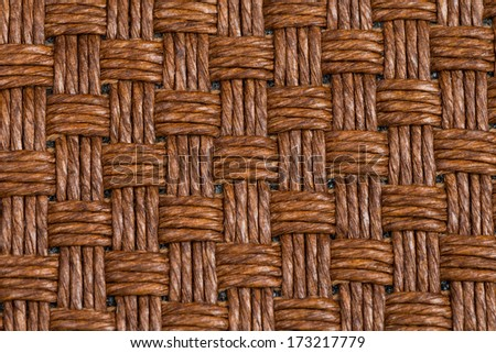 Closeup detail of brown wicker texture background - stock photo