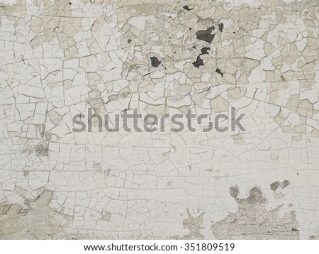 Closeup detail of cracked paint on metal texture - stock photo