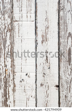 Closeup detail of white painted wood texture background - stock photo