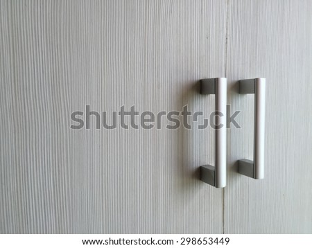 Closeup Door handles - stock photo