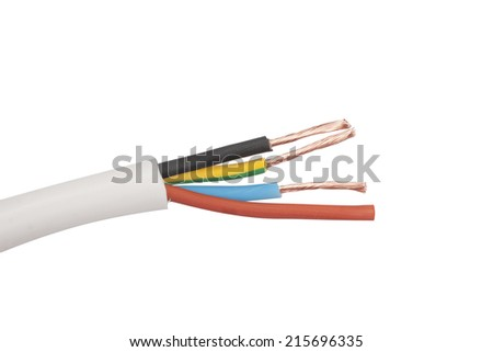 Closeup electric cable