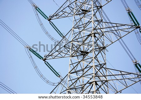 closeup electricity transmission