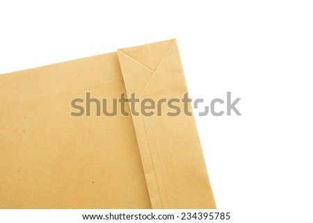 Closeup envelope bottom on white background - stock photo