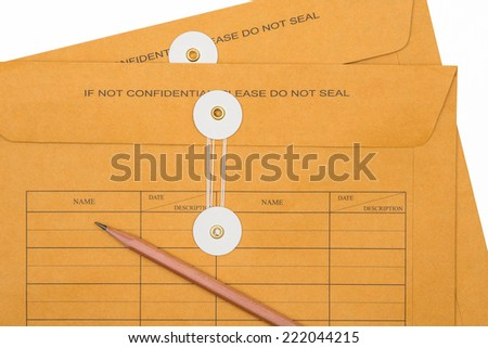 closeup envelope document - stock photo