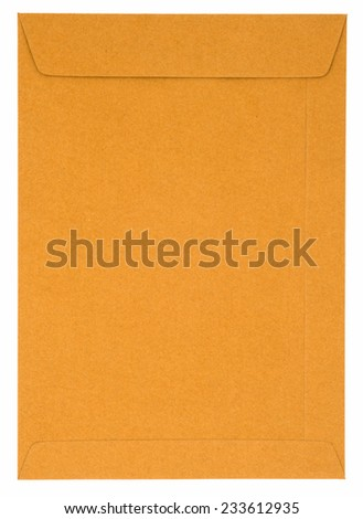 closeup envelope document. - stock photo