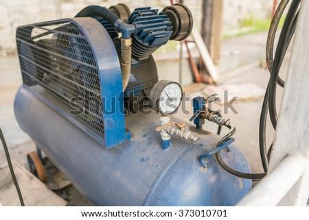 Closeup equipment - Tubes, pressure gauges. pressure measurement - stock photo