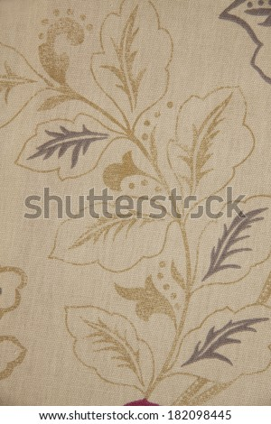 Closeup fabric with floral ornaments