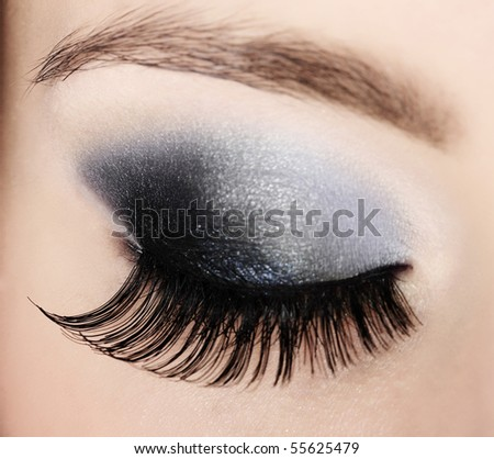 closeup female eye - stock photo