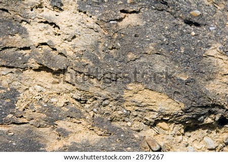 Closeup from a sand-stone for background - stock photo