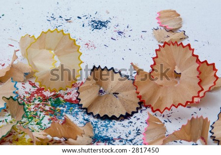 Closeup from pencil shavings
