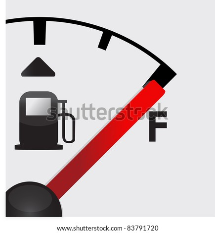 closeup Full gas tank detail illustration - stock photo