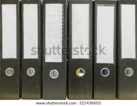 Closeup group of document file background - stock photo