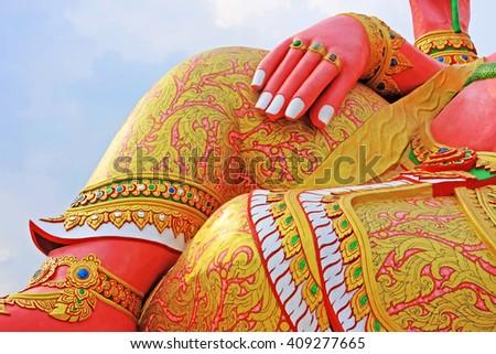 Closeup hand of Ganesha in Thailand - stock photo