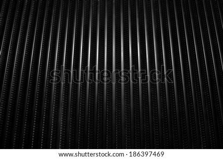Closeup image of a car heatsink or cooler  pattern. - stock photo