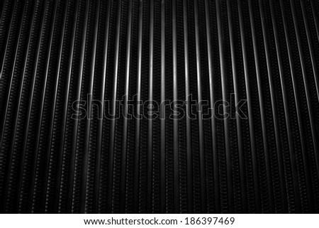 Closeup image of a car heatsink or cooler  pattern. - stock photo