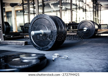 Closeup image of a fitness equipment in gym - stock photo