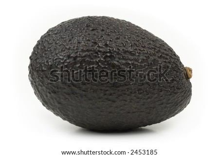 Closeup image of a ripe avocado.