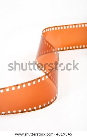 Closeup image of 35mm film - stock photo