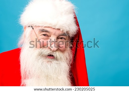 Closeup image of santa-claus with smile - stock photo
