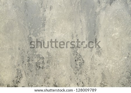 Closeup image of water from fountain with high shutter speed - stock photo