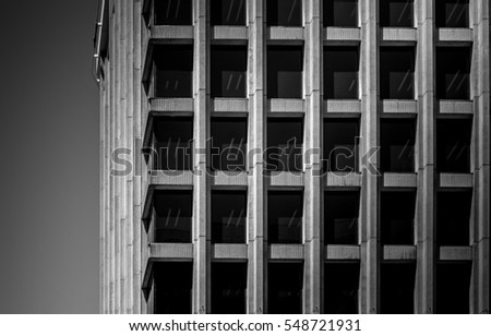 Closeup images of commercial building in Wellington, New Zealand at Dec, 2016.