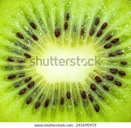 Closeup Kiwi - stock photo