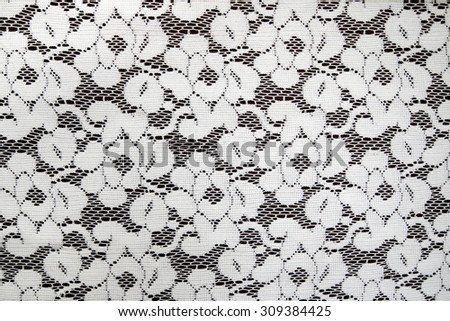 closeup  lace fabric seamless pattern with roses - stock photo