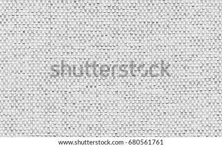 Closeup Light Grey White Color Fabric Texture Strip Pattern Design Or Upholstery