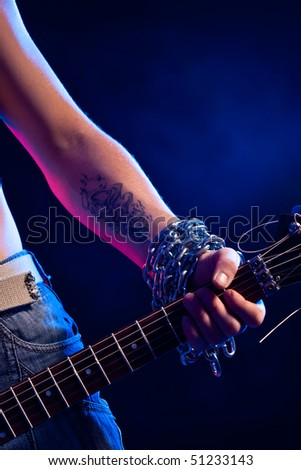 Guitar tattoo stock images royalty free images vectors for Electric hand tattoo