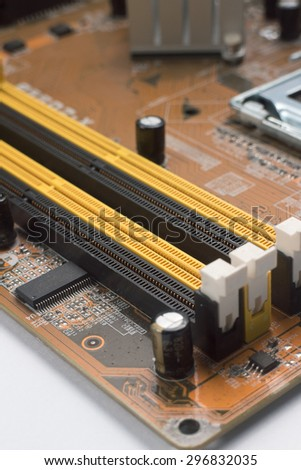 Closeup Memory slot