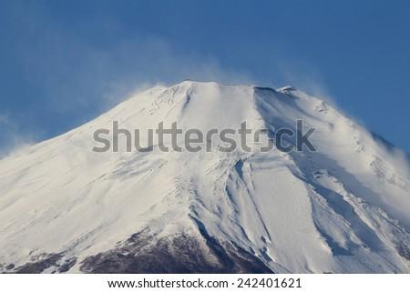 closeup Mount Fuji, Japan - stock photo