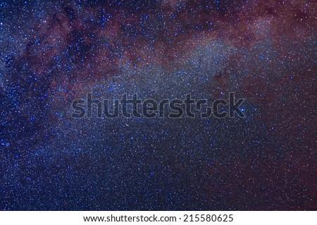 closeup night sky - stock photo