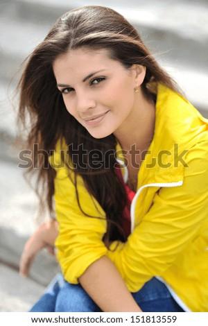 Closeup of a beautiful fashionable girl   - stock photo