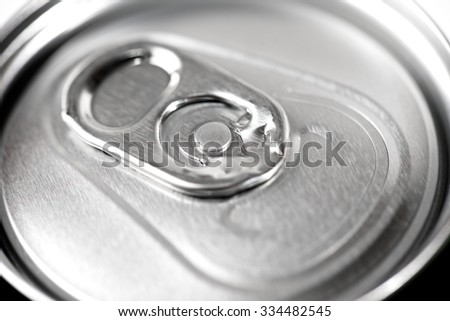 Closeup of a beer can. - stock photo