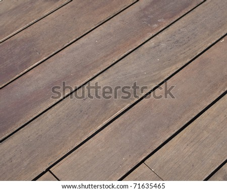 closeup of a brown wooden floor - stock photo