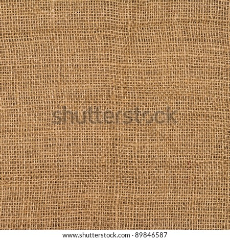 Closeup of a burlap texture - stock photo