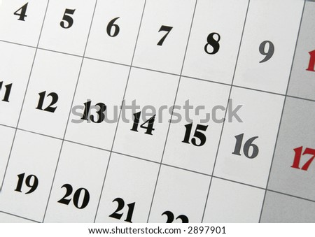closeup of a calendar - stock photo