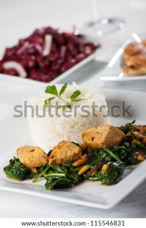 closeup of a chicken curry - stock photo