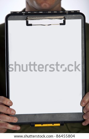 Closeup of a clipboard with room for copy - stock photo